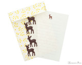 Midori Letter Writing Set with Animal Stickers - Deer - Set