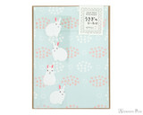 Midori Letter Writing Set with Animal Stickers - Rabbit