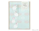 Midori Letter Writing Set with Animal Stickers - Rabbit