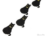 Midori Letter Writing Set with Animal Stickers - Black Cat - Stickers