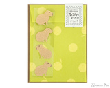 Midori Letter Writing Set with Animal Stickers - Capybara
