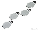 Midori Letter Writing Set with Animal Stickers - Penguin - Stickers