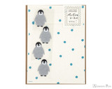 Midori Letter Writing Set with Animal Stickers - Penguin