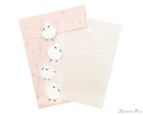 Midori Letter Writing Set with Animal Stickers - Long-Tailed Tit - Set