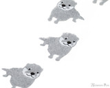Midori Letter Writing Set with Animal Stickers - Small-Clawed Otter - Stickers