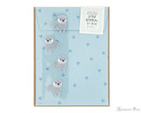 Midori Letter Writing Set with Animal Stickers - Small-Clawed Otter