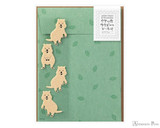 Midori Letter Writing Set with Animal Stickers - Quokka
