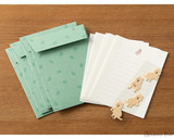 Midori Letter Writing Set with Animal Stickers - Quokka - Spread