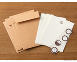 Midori Letter Writing Set with Animal Stickers - Hedgehog - Spread