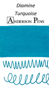 Diamine Turquoise Ink Color Swab