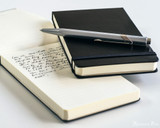 Leuchtturm1917 Reporter Notebook - A6, Lined - Black - Beauty