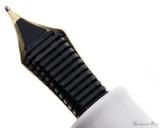 Sailor Pro Gear Slim Mini Fountain Pen - Beni White, Medium-Fine Nib - Feed