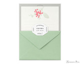 Midori Letter Writing Set - Letterpress Red Bouquet