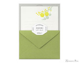 Midori Letter Writing Set - Letterpress Yellow Bouquet