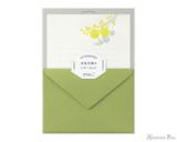 Midori Letter Writing Set - Letterpress Yellow Bouquet