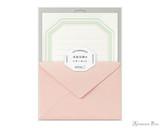 Midori Letter Writing Set - Letterpress Pink Frame