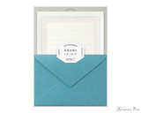 Midori Letter Writing Set - Letterpress Blue Frame