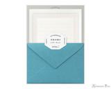 Midori Letter Writing Set - Letterpress Blue Frame