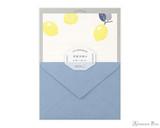 Midori Letter Writing Set - Letterpress Lemon