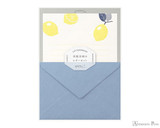Midori Letter Writing Set - Letterpress Lemon