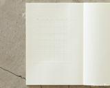 Midori MD Undated Diary Sticker - In Book