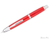 Pilot Vanishing Point Fountain Pen - Vivid Red 2009 LE - Open