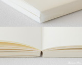 Midori MD Cotton Notepad - F0, Blank - White - Detail