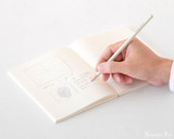 Midori MD Cotton Notepad - F0, Blank - White - Action