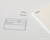 Midori MD Cotton Notepad - F0, Blank - White - Sticker Detail