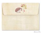 Peter Pauper Press Notecards - 5 x 3.5, Hedgehog - Envelope
