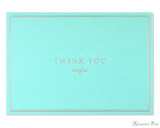 Peter Pauper Press Thank You Notecards - 5 x 3.5, Blue Elegance