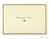 Peter Pauper Press Thank You Notecards - 5 x 3.5, Black and Cream