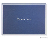 Peter Pauper Press Thank You Notecards - 5 x 3.5, Navy Blue