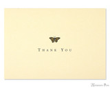 Peter Pauper Press Thank You Notecards - 5 x 3.5, Gold Butterfly