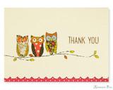 Peter Pauper Press Thank You Notecards - 5 x 3.5, Perching Owls