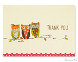 Peter Pauper Press Thank You Notecards - 5 x 3.5, Perching Owls
