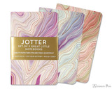 Peter Pauper Press Jotter Mini Notebooks - Agate (3 Pack)