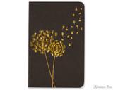 Peter Pauper Press Jotter Mini Notebooks - Dandelion Wishes (3 Pack) - Black Book