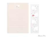 Midori Letter Writing Set with Animal Stickers - Goat - Stationery