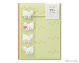 Midori Letter Writing Set with Animal Stickers - Goat