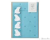 Midori Letter Writing Set with Animal Stickers - Polar Bear