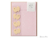Midori Letter Writing Set with Animal Stickers - Pomeranian