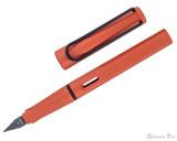 Lamy Safari Fountain Pen - Terra Red - Open