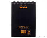 Rhodia No. 16 Wirebound Notebook - A5, Graph - Black back cover