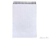 Rhodia No. 16 Wirebound Notebook - A5, Graph - Black open