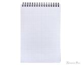 Rhodia No. 16 Wirebound Notebook - A5, Graph - Black open