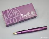 Kaweco AL Sport Fountain Pen - Vibrant Violet (Limited Edition) - Both
