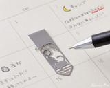 Midori Bookmarker Clip - Cat and Moon - Stencil