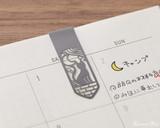Midori Bookmarker Clip - Cat and Moon - Clipped