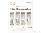 Midori Bookmarker Clip - Cat and Moon